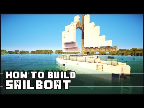 Minecraft Vehicle Tutorial - How to Build : Sailboat
