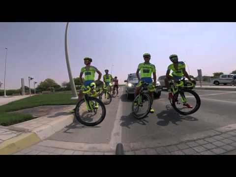 Training Day For Abu Dhabi Tour. Peter Sagan Waiting For A Green Light