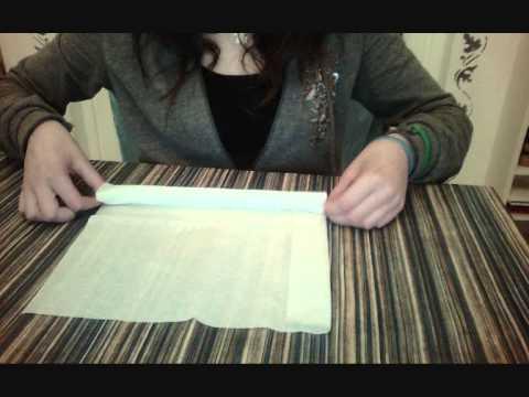 Piegare tovaglioli di carta-ROSA - YouTube