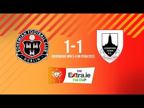 Extra.ie FAI Cup Second Round: Bohemians 1-1 Longford Town - Bohemians win 5-4 on penalties