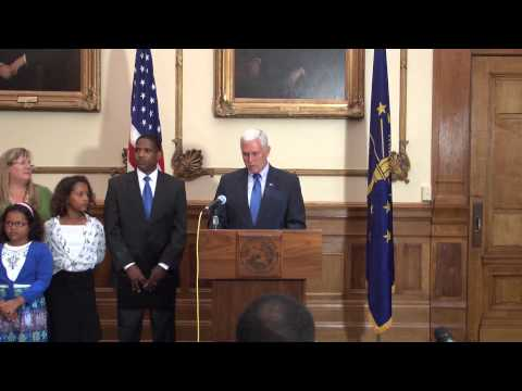 Governor Pence Announces, Introduces Dwayne Sawyer as Indiana State Auditor
