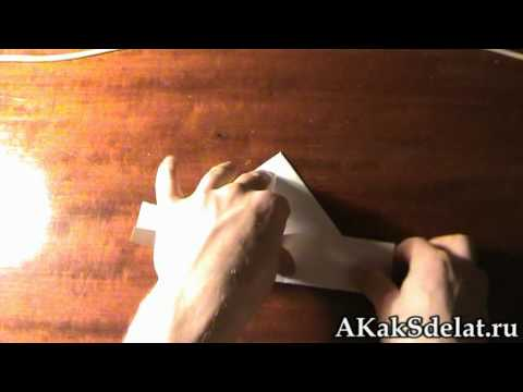 Как из бумаги сделать кораблик