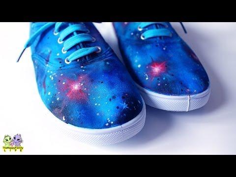 Галактические КЕДЫ ✦ Декор акриловыми красками !