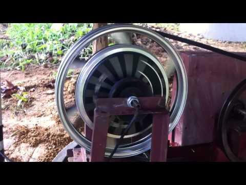 กังหันน้ำผลิตไฟฟ้าด้วยมอเตอร์จักรยานไฟฟ้า 48V 350W