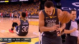 Steph Curry's reaction after Klay Thompson torn ACL in game 6 | Raptors vs Warriors Game 6