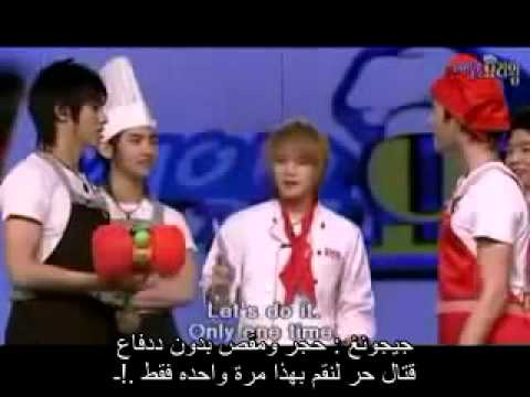 DBSK Cooking Variety Show Part 3 arabic sub