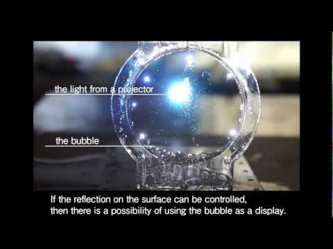 A Colloidal Display: membrane screen that combines  transparency, BRDF and 3D volume