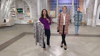 Studio by Denim & Co. Stripe Jacquard Open Front Cardigan on QVC