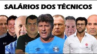 Os salários dos técnicos dos principais clubes do Brasil em 2019