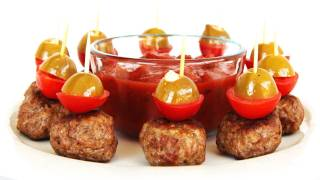 Spicy Meatball Hors D'oeuvres - Finger Food Video Recipe