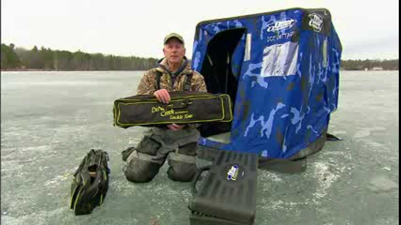 Ice fishing rod cases youtube for Ice fishing bag