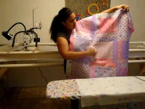 Longarm Machine Quilting- Loading your quilt