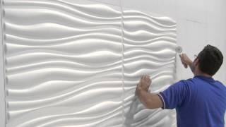 Posa in opera pannelli in fibra di Bambù 3D