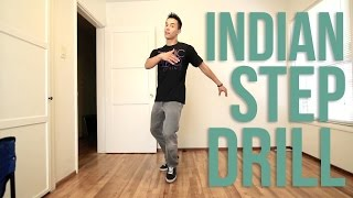 How to Breakdance I Indian Step Drill I Top Rock Basics