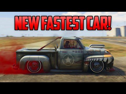 GTA 5 Online - NEW FASTEST CAR! Vapid Slamvan Custom Is The FASTEST Car Online! (GTA 5 Tricks)
