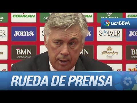 Rueda de prensa de Ancelotti tras el Granada CF (0-4) Real Madrid - HD