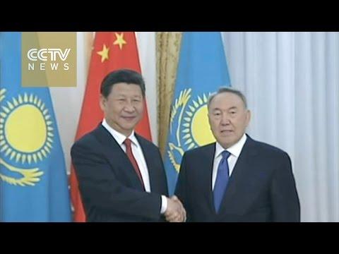 President Xi meets Kazakh counterpart in Astana