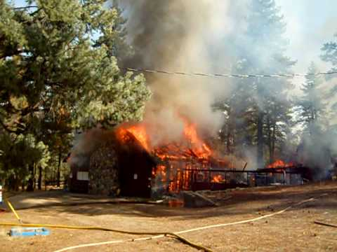 Fire at Camp Lakota in Frazier Park