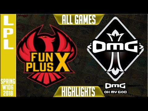 OMG vs FPX Highlights ALL GAMES | LPL Spring 2018 S8 W1D6 | Oh My God vs FunPlus Phoenix Highlights