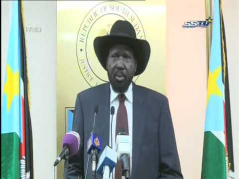 South Sudan's President Salva Kiir Press Conference - Juba