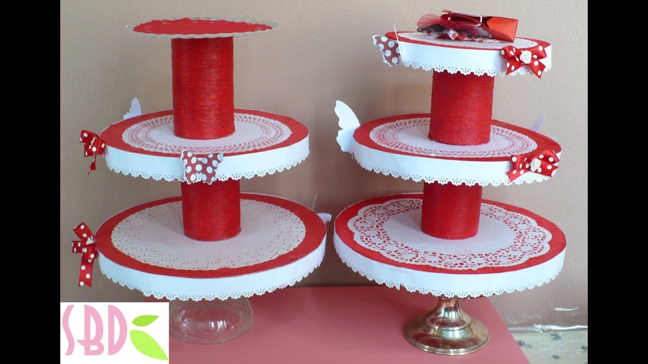 Подставка под пирожные своими руками