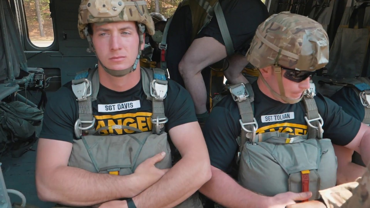 U.S. Army Rangers, assigned to the 5th Ranger Training Battalion, and U.S. Army Reserve paratroopers with the 982nd Combat Camera Company (Airborne) parachuted into Lake Lanier, Dawsonville, Ga., May 9, 2018. The training event, held during the 5th Ranger Training Battalion's family day gives Rangers an opportunity to improve proficiency in water landings and gives their families and local community a chance to see them train.  (U.S. Army video by Spc. David Cook)