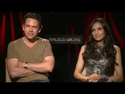Hemlock Grove Video interview with Dougray Scott & Famke Janssen