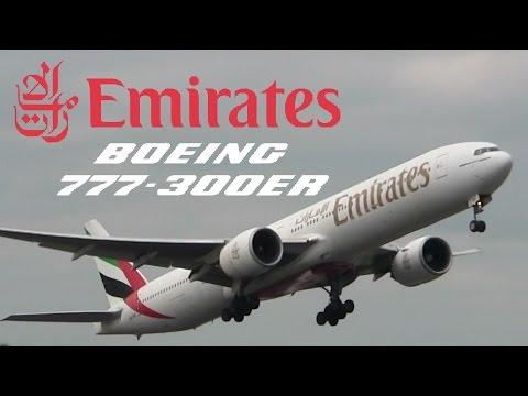Emirates POWERFUL Takeoff   Dublin Airport   B777-31HER [A6-EBZ]