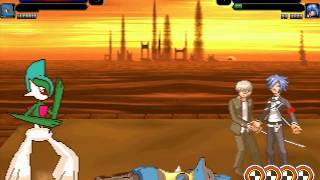 M.U.G.E.N Episode 1945 Gallade and Lucario vs P4 Hero and P3 Hero