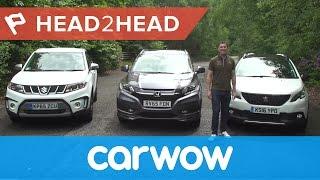 Suzuki Vitara vs Honda HR-V vs Peugeot 2008 review   Head2Head
