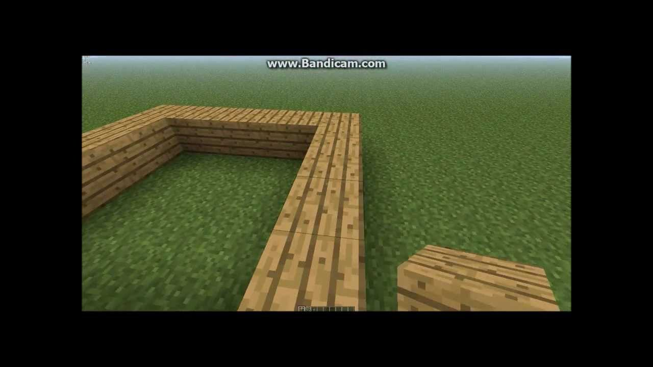 Minecraft how to build a small two story house part 1 for How to frame a two story house