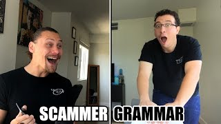 Epic Scammer Time Wasted - Best Ending Ever | Scammer Grammar