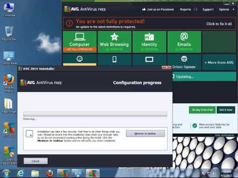 How to Uninstall AVG AntiVirus FREE 2014