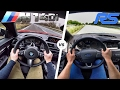 Ford Focus RS vs BMW M140i ACCELERATION TOP SPEED & SOUND POV by AutoTopNL
