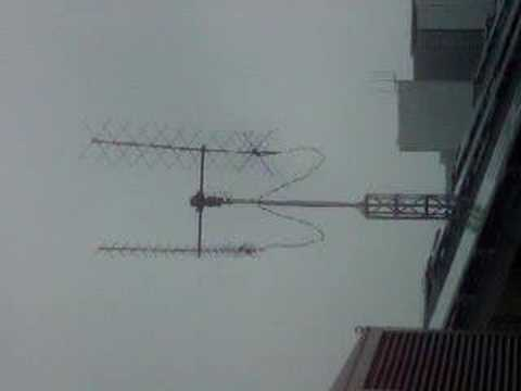 Antenna in typhoon