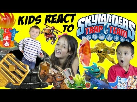 Kids React to Skylanders Trap Team! (Gameplay / Characters / Portal / Starter Pack)
