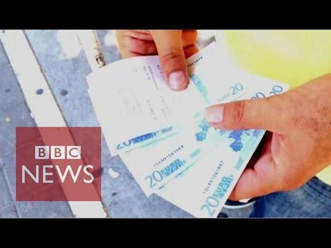 Greece: Family lives on 60 euros a day - BBC News