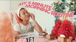 MY 5 MINUTE MORNING ROUTINE | for busy days in a rush