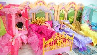 5 Pajamas for 5 Princess Dolls boneka putri Poupées دمى الاميرة Prinzessin Puppen Bonecas princesa
