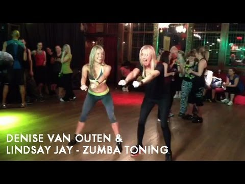 Denise Van Outen doing Zumba on ITV's DayBreak with Lindsay Jay