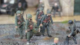 "Historic WW2 diorama 1/35 scale ""German country hospital"""