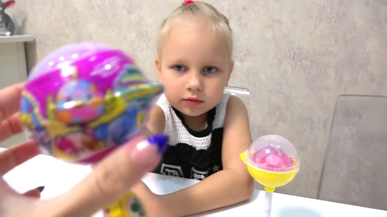 Алиса открывает ПИКМИ ПОПС !!! Мягкие игрушки в ШАРИКАХ на палочке!!!