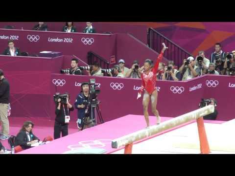 London 2012 Olympics Gymnastics - Gabby Douglas on the Beam for Team USA