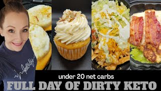 What I Eat In A Day On Keto????Extremely Dirty Keto????All Fast Food