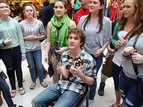 Grafton High School VA chior flash mob at a New Jersey Mall part three .AVI