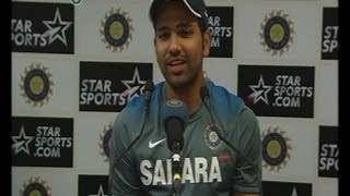 Rohit Sharma talks about hitting 100 on Test debut