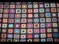 "Одеяло ""бабушкин квадрат"". Мотивы крючком.Часть 1- вяжем мотив. Afgan blanket. Easy pattern."