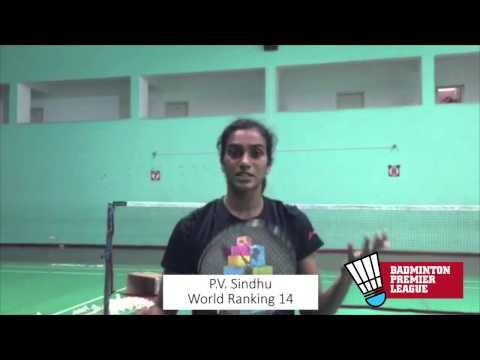 PV Sindhu wishing Badminton Premier League