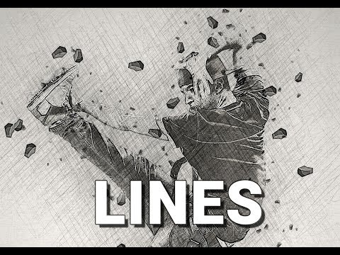 Lines Photoshop Action Tutorial