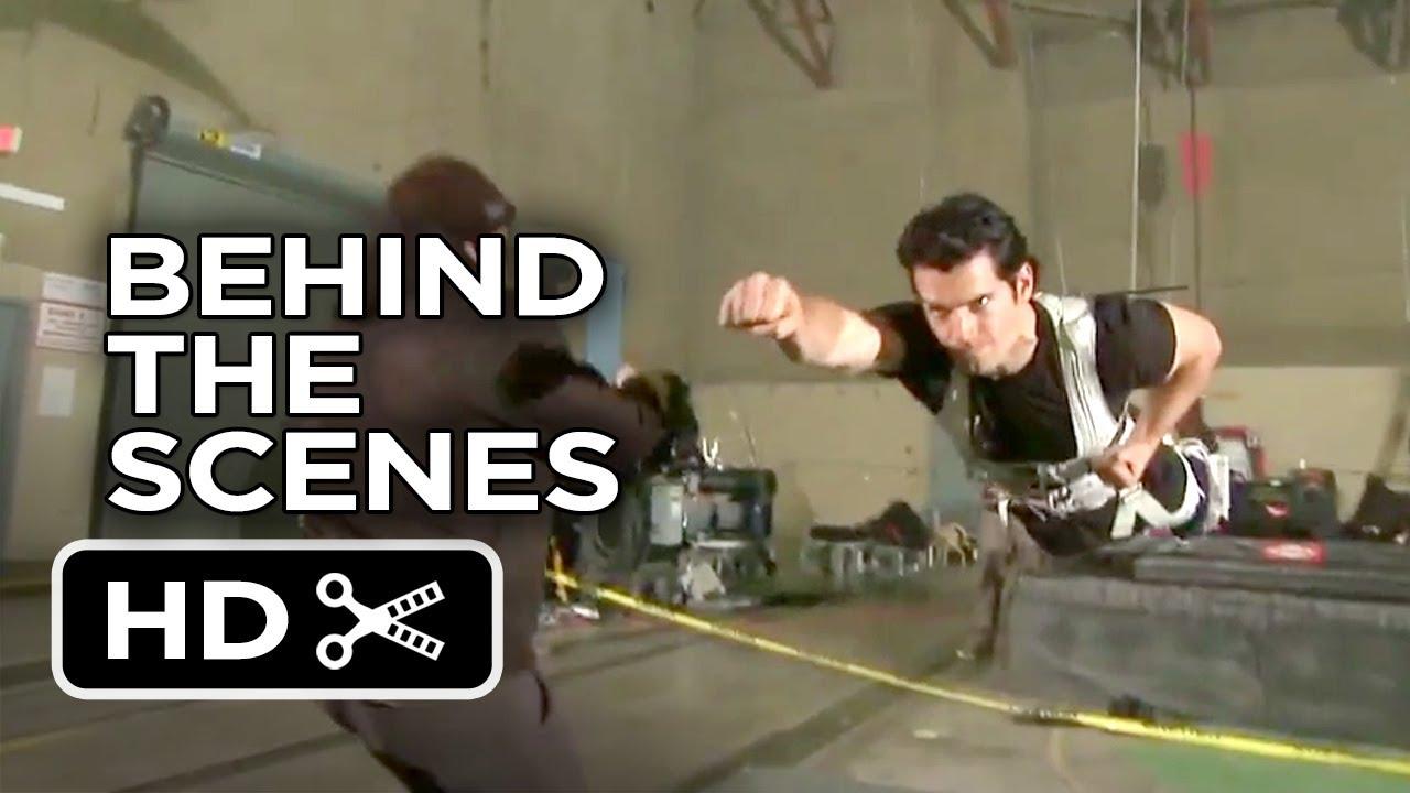 Steeling Scene Man of Steel Behind The Scenes